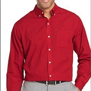 VAN HEUSEN FITTED PIQUE MENS SHIRT